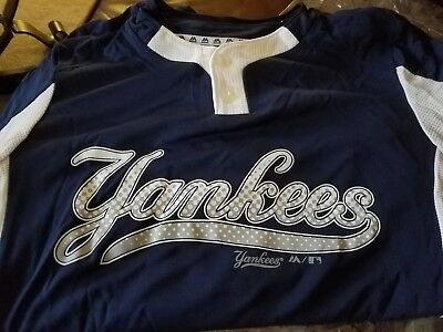 43807bca1fe New Majestic Cool Base Yankees Md Youth Baseball Little League 2-Button  Jersey