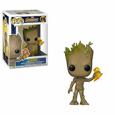 Funko Pop Marvel Avengers Infinity War - Groot with Stormbreaker Vinyl Figure