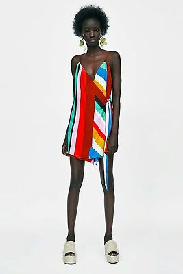 Zara Multi Colour Striped Crossover Jumpsuits Size Xs Eur 3422