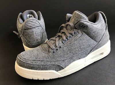promo code c4b2f d8374 NIKE AIR JORDAN 3 III RETRO WOOL DARK GREY SAIL MENS Sz12 New In Box