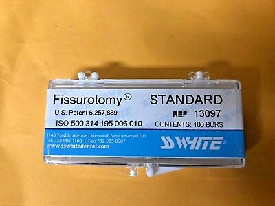 Dental SS White Fissurotomy original   Burs  clinic pack 13097 , Midwest