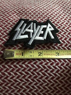 "Slayer Embroidered Iron/Sew ON Patch 3"" x 1.5"" Rock Metal Music"