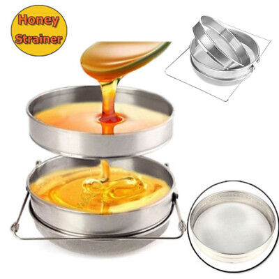 Beekeeping Filter Double Honey Sieve Strainer Apiary Equip Brand New Hot Sale