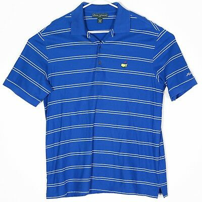 Augusta National Masters Collection Mens Golf Shirt Large Polo Pima Cotton Blue