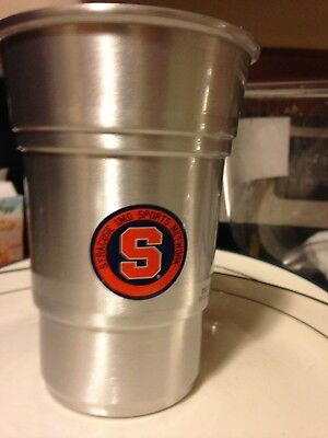 Coors Light Aluminum Cup- Syracuse University 22oz. Man Cave! Orange! NCAA BEER