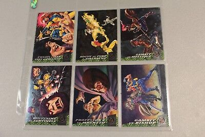 1994 Fleer Ultra X-Men Greatest Battles 6 cards chase subset MINT RARE Wolverine