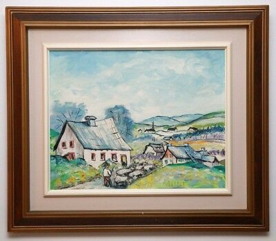 Originale Painting By Canadian Quebec Listed Artist Judith St-Hilaire