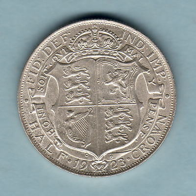 Great Britain. 1923 Halfcrown..  aU/UNC