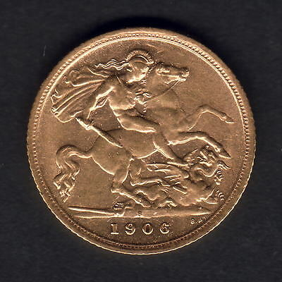 Australia.  1906 Sydney - Half Sovereign..  Much  Lustre..  gEF