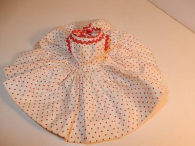 vintage Doll MADAME ALEXANDER CISSETTE TAGGED DRESS RED WHITE POLKA DOTS FULL