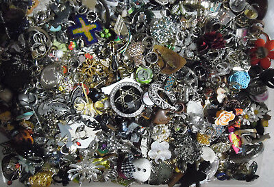 vintage/now PENDANT,RING,BROOCH/PIN LOTS lbs wear,repair