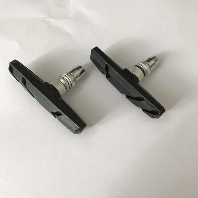 Black Mountain Bike Road Cycling Rubber V Brake Holder Shoes Pads Parts 1 Pair