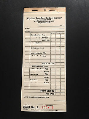1940 and 1950 Keystone Coca-Cola Receipt Books -  Wilkes-Barre, Pennsylvania