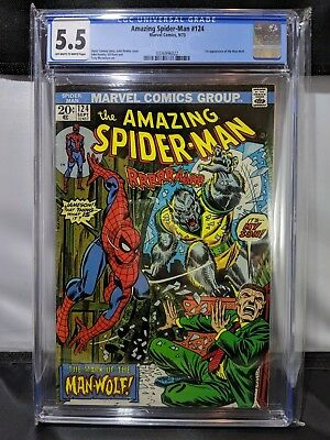 Amazing Spider-Man #124 Comic Book CGC 5.5 Off-White to White Pages Grade MARVEL