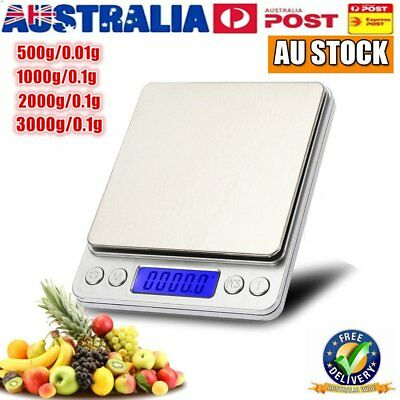 Digital Pocket Kitchen Scale 500g/0.01g LCD Display Food Jewelry Weight Tool AU