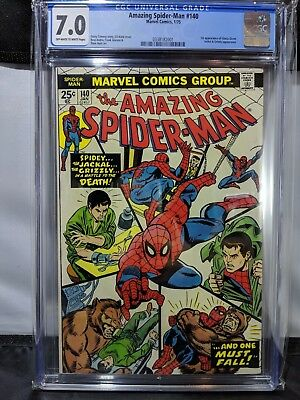 Amazing Spider-Man #140 Comic Book CGC 7.0 Off-White to White Pages Grade MARVEL
