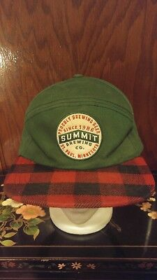 b9ebd4b961b Summit Brewing - Brewery (MN) Green and Red Black Plaid Snapback Beer Hat