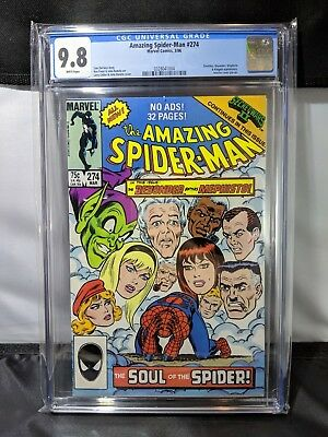 Amazing Spider-Man #274 Comic Book CGC 9.8 White Pages Grade MARVEL
