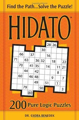 Hidato: 200 Pure Logic Puzzles by Benedek, Gyora Paperback Book The Cheap Fast