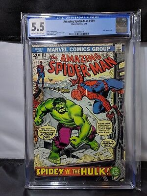Amazing Spider-Man #119 Comic Book CGC 5.5 Off-White to White Pages Grade MARVEL