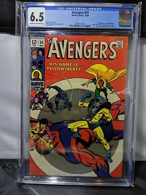 The Avengers #59 Comic Book CGC 6.5 Grade Cream to Off-White Pages Marvel