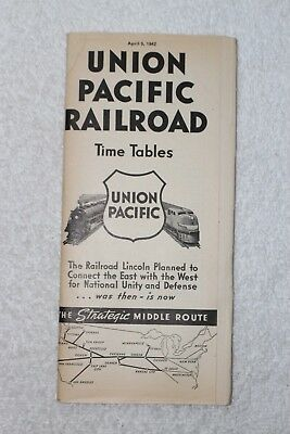 1942 WWII TRAIN Time Tables/Brochure~ UNION PACIFIC RAILROAD~MisPrint/Unique?
