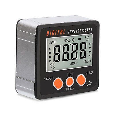 4*90° Degree Digital Inclinometer Level Box Protractor Angle Finder Bevel Gauge