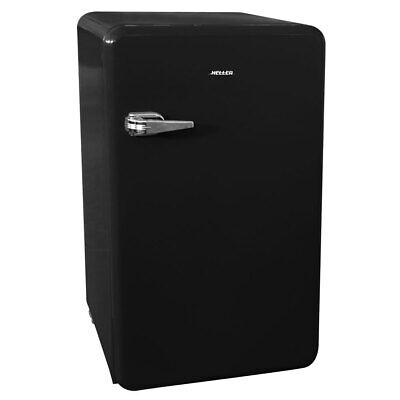 Heller 90L Retro Bar Fridge Drinks/Food Home Cooler/Freezer Refrigerator BLK