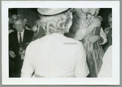 #752 Mystery Party Woman From Behind, Vintage Photo
