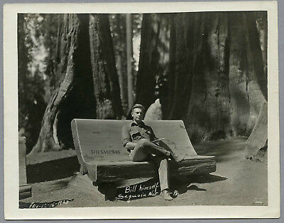 "#759 ""Bill Himself"" at Sequoia 1925, Lonely Man, Vintage Gay Int Photo"