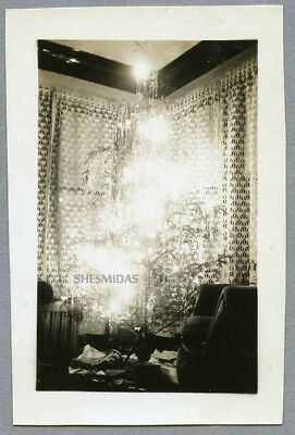 #756 Tree in a Burst of Light, Christmas, Vintage Photo