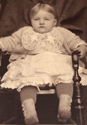 "Antique Victorian CDV Photograph Gallipolis OH. ""Held Still"" Cute Baby Girl!:)"