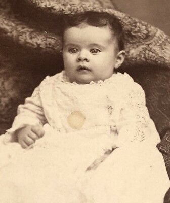 Antique CDV Photograph Signed Julia Fletcher Viall Documented Pretty Baby Girl!