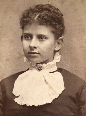 Antique Victorian CDV Photograph Easton PA Ethnic Native? Jewelry Woman Lady!