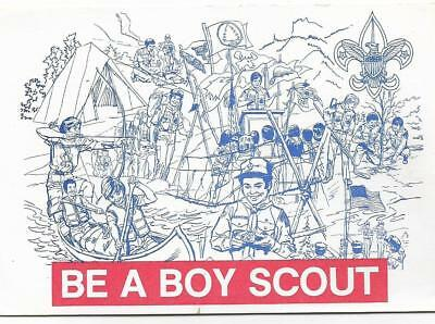 Be A Boy Scout,invitation Postcard,showing The Bsa Various Acitvities 1982