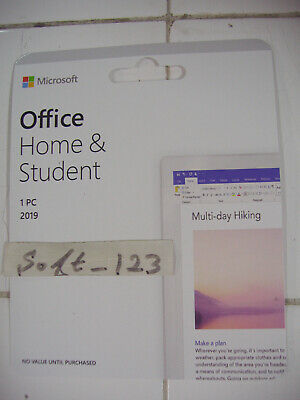 Microsoft Office Home and Student 2019 GENUINE 79G-05029 for Windows 10/Mac OS