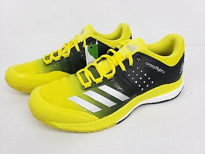 quality design 0d133 23512 Adidas Womens Crazyflight X Volleyball Boost Shoes Yellow Black Size 10  BA9267