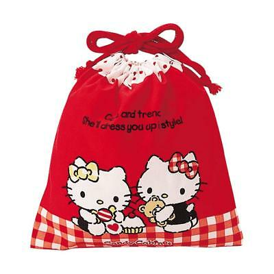 e1031655c4 HELLO KITTY SANRIO Cotton Drawstring Bag wTreats NEW Ships from USA ...