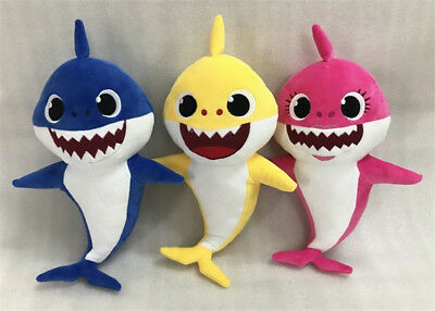 Pink Fong Cartoon Stuffed Toy Baby Shark Singing Doll ♫ do doo do do do doo doo