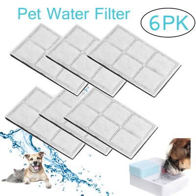 6PK Charcoal Filters For Drinkwell Pet Water Fountain Dog Water Cartridge