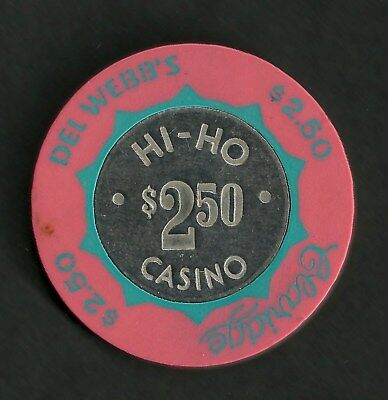Del Webb's Claridge Hi-Ho Casino $2.50 chip