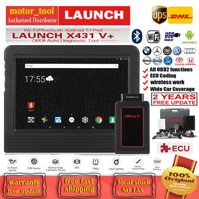 LAUNCH X431 V+ ScanPad OBD2 Car Diagnostic Scanner Tool pro3 ECU Key Programming