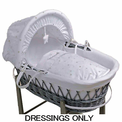 Bizzi Growin Love You To The Stars Wicker Baby Moses Basket Dressings Cover