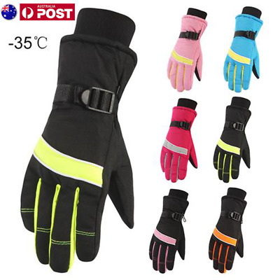 -35℃ Winter Ski Gloves Waterproof Thermal Snowboard Snow Skiing Womens Ladies