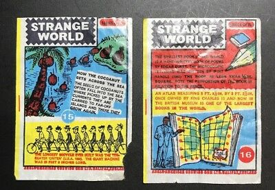 16 1965 Anglo Gum Wrappers Strange World