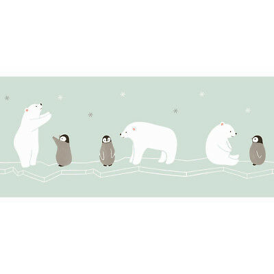 Happy Dreams Tapeten-Bordüre Casadeco HPDM 8286 6234 Polar Bear  (6,99 EUR/m)