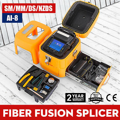 "Ai-8 Automatic Optical Fiber Fusion Splicer Night Operation 5"" LCD Display Local"