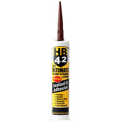 HB42 Ultimate Sealant Adhesive Brown 310ml Cartridge Best in Class UK Supplier