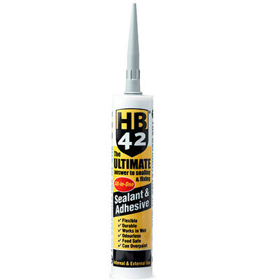 HB42 Ultimate Sealant Adhesive Grey 310ml Cartridge Best in Class UK Supplier