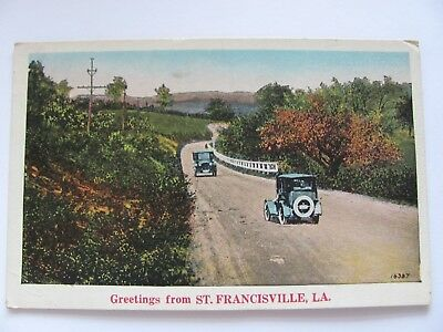 Greetings From St. Francisville, Louisiana Vintage Postcard